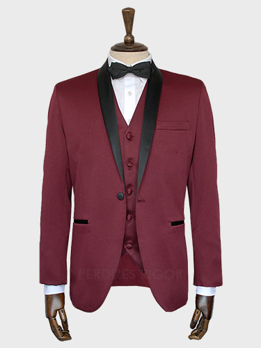 Aluguel de Smoking Marsala Slim
